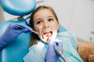 Pediatric dental exam